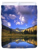 Haystack Mountain Reflected In Beaver Pond Duvet Cover
