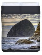 Haystack Rock At Cape Kiwanda Duvet Cover
