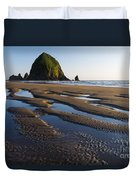 Haystack Rock Duvet Cover