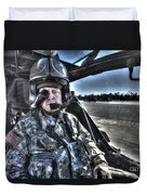 Hdr Image Of A Pilot Equipped Duvet Cover
