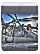 Hdr Image Of Pilots Equipped Duvet Cover