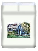 Hdr Tin Patch Roof Barn Duvet Cover