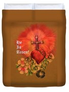 He Is Risen Greeting Card Duvet Cover