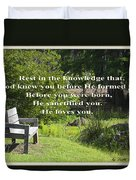 He Sanctified You Duvet Cover