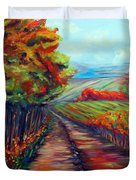 He Walks With Me Duvet Cover