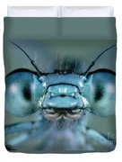 Head And Compound Eyes Of Damselfly Duvet Cover