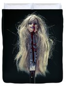 Head And Knife Duvet Cover