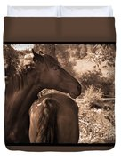 Head And Tail Duvet Cover