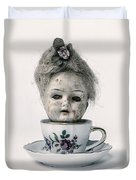 Head In Cup Duvet Cover