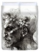 Head Of A Satyr  Duvet Cover