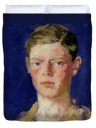 Head Of A Young Man Duvet Cover
