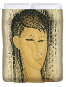 Head Of A Young Women Duvet Cover