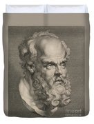 Head Of Socrates Duvet Cover by Anonymous