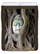 Head Of The Sandstone Buddha Duvet Cover