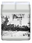 Head On Train Wreck Duvet Cover