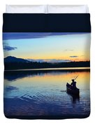 Heading Out At Sunset Duvet Cover