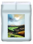 Heading To The Green Land Duvet Cover