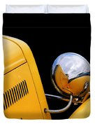 Headlight Reflections In A 32 Ford Deuce Coupe Duvet Cover