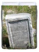 Headstone In The Basilica Church Aphrodisias Duvet Cover
