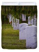 Headstones Of Arlington Cemetery Duvet Cover