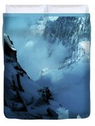 Headwall Mount Blanc Duvet Cover