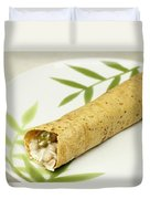 Healthy Burrito On A Plate Duvet Cover