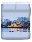 Hean Boo Thean Temple At Blue Hour Duvet Cover