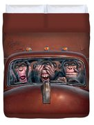 Hear No Evil See No Evil Speak No Evil Duvet Cover
