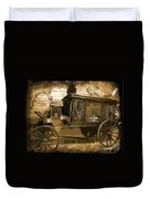 Hearse Poster Duvet Cover by Crystal Loppie