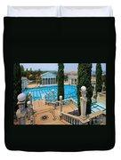 Hearst Castle Neptune Pool Duvet Cover