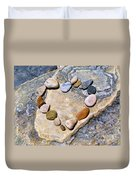 Heart And Stones  Duvet Cover