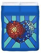 Heart Art - Love Conquers All 2  Duvet Cover