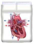 Heart Blood Flow Duvet Cover