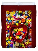 Heart Bowl With Buttons Duvet Cover