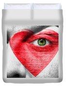 Heart Face Duvet Cover