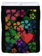 Heart In Flowers Duvet Cover