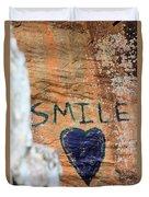 Heart In Sandstone Mountain Duvet Cover