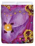 Heart Juxtaposition Duvet Cover by Alixandra Mullins