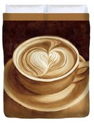 Heart Latte II Duvet Cover