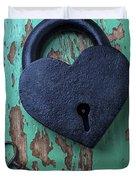 Heart Lock And Key Duvet Cover