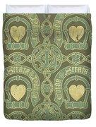 Heart Motif Ecclesiastical Wallpaper Duvet Cover