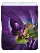 Heart Of A Purple Tulip Duvet Cover