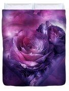 Heart Of A Rose - Burgundy Purple Duvet Cover
