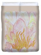 Heart Of Aqualily Duvet Cover
