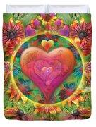 Heart Of Flowers Duvet Cover
