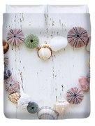 Heart Of Seashells And Rocks Duvet Cover