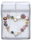 Heart Of Seashells And Rocks Duvet Cover by Elena Elisseeva
