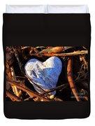 Heart Of Stone Duvet Cover