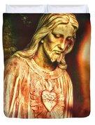 Heart Of The Savior Duvet Cover