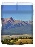 Heart Of The Sawatch Panoramic Duvet Cover